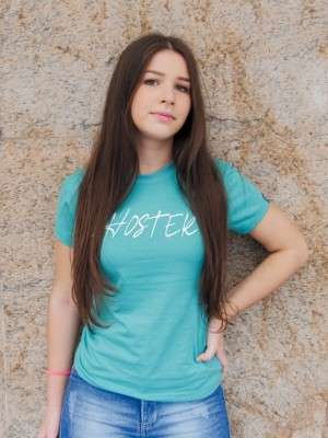 Camiseta Feminina Baby Look HOSTER Style Verde