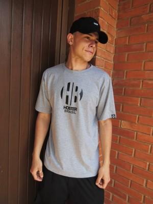 Camiseta HOSTER HB Cinza Mescla