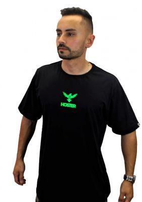 Camiseta Preta Athleisure HOSTER King Pro Neon
