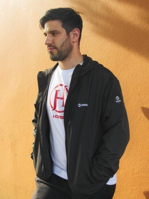 Jaqueta Corta Vento HOSTER Preto com Forro e Bolso Interno