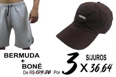 KIT Bermuda + Boné Dad Hat HOSTER