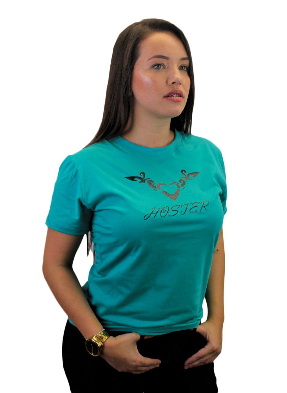 Camiseta Feminina Verde Baby Look HOSTER Nature