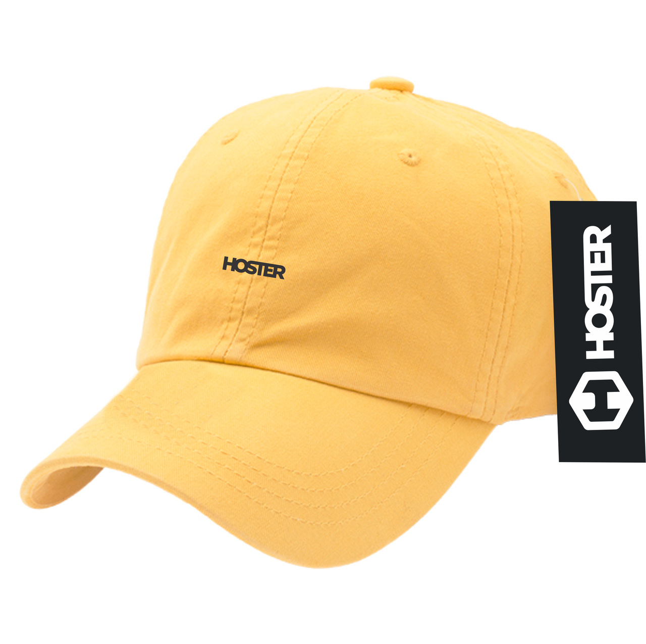 Boné Dad Hat Strapback Amarelo Athleisure HOSTER
