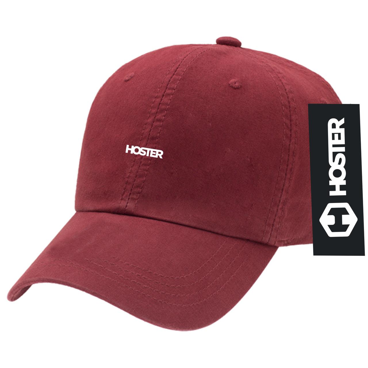 Boné Dad Hat Strapback Bordô Athleisure HOSTER