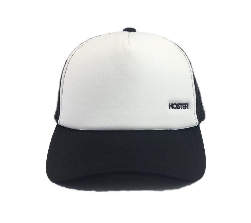 Boné Branco/Preto Trucker HOSTER