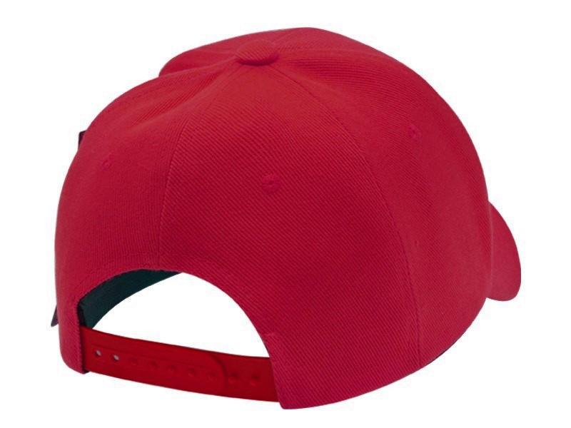 Boné Vermelho Aba Curva Logo