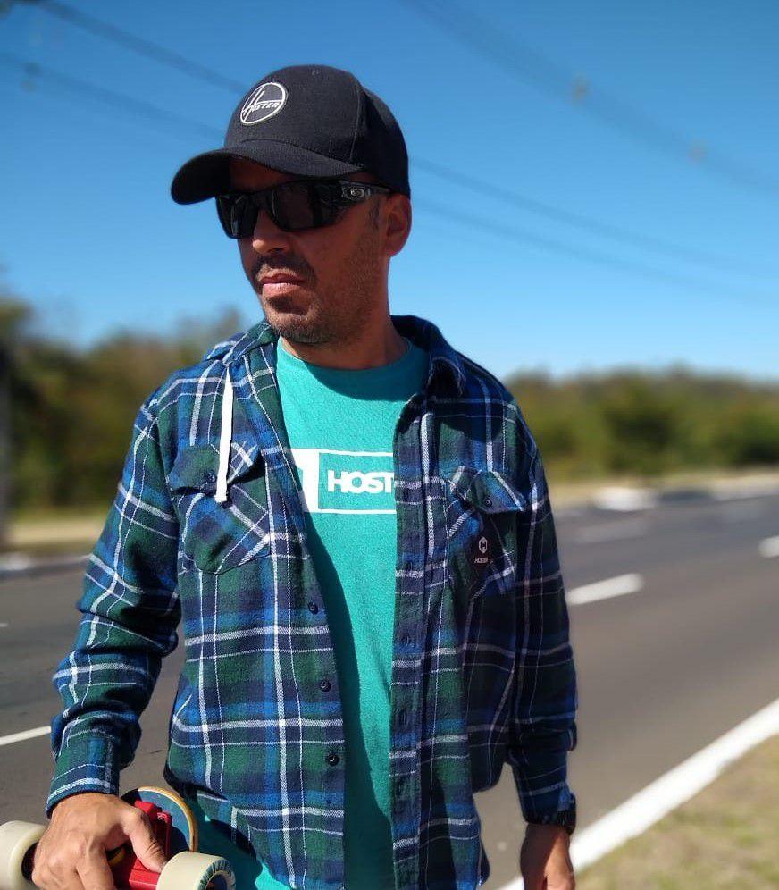 Camisa Flanela Manga Longa Hoster com Capuz Removível