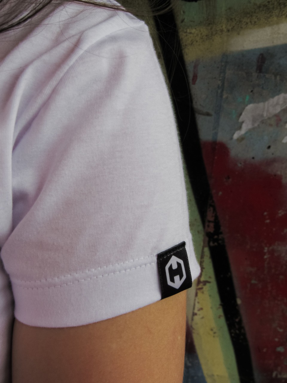 Camiseta Feminina Baby Look HOSTER Style Branca