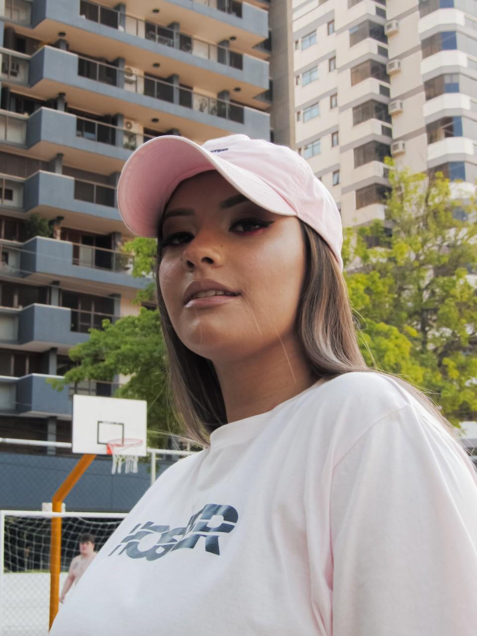 Camiseta Feminina HOSTER Rosa Swell New