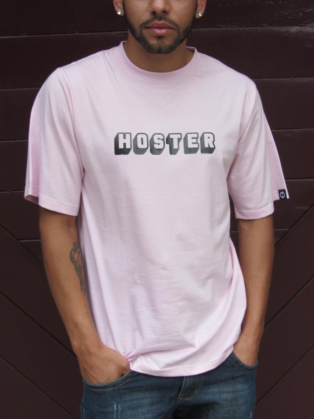 Camiseta HOSTER 3D Rosa
