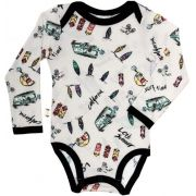 California  Body Bebê Manga Longa micromodal