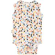 Body  Regata Bebê Estampa Dots micromodal