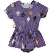 Body vestido bebê pipa micromodal