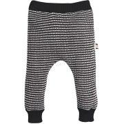 Calça infantil tricot zigzag preta e branca