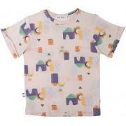 Camiseta  infantil blocos micromodal