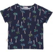Camiseta infantil estampa palms micromodal
