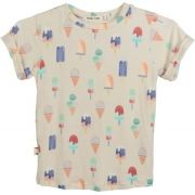 Camiseta  infantil estampada sorvete azul micromodal