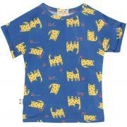 Camiseta  infantil gato micromodal