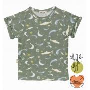 camiseta  infantil Fundo do mar