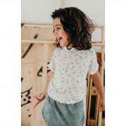 camiseta  infantil micromodal alfinete