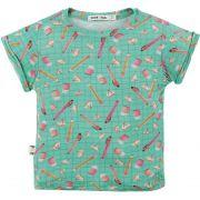 camiseta  infantil micromodal estojo