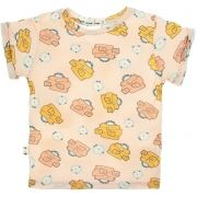 Camiseta  infantil view master rosa micromodal