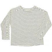 Camiseta manga longa recorte listras