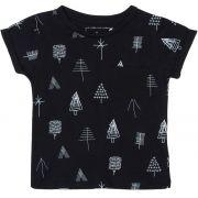 Camiseta preta Trees