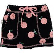 Short-saia Infantil estampado maça