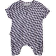 Macacão Bebê Geométrico Azul