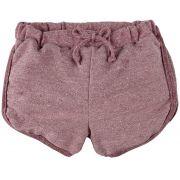 Shorts infantil moletinho Framboesa