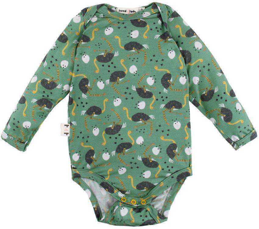 body bebê manga longa micromodal avestruz