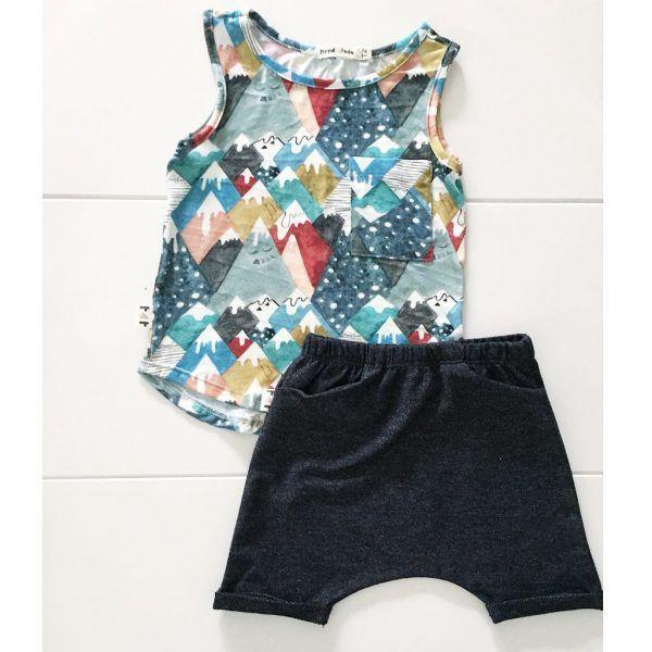 Bermuda Infantil Preta Jeans