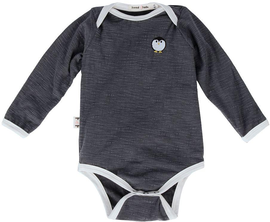 Body bebê manga longa estonado pinguim