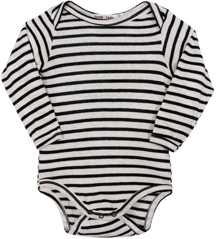 Body bebê manga longa listras