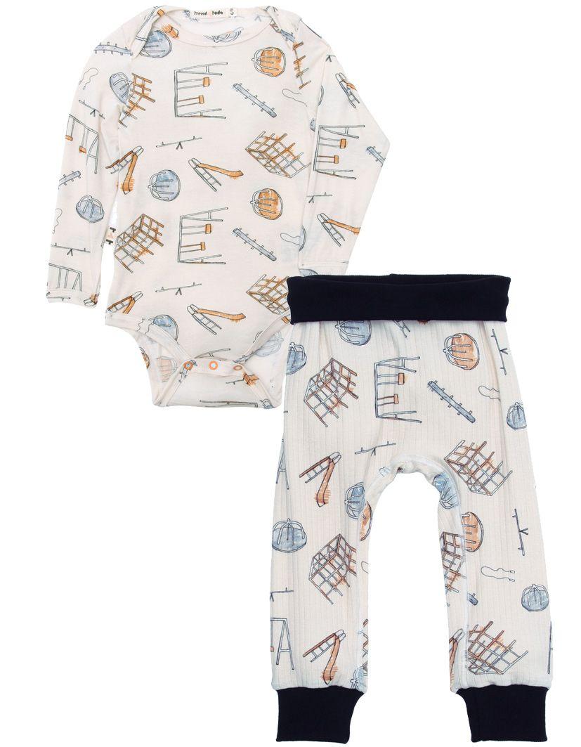 Parquinho Body Manga longa bebê micromodal