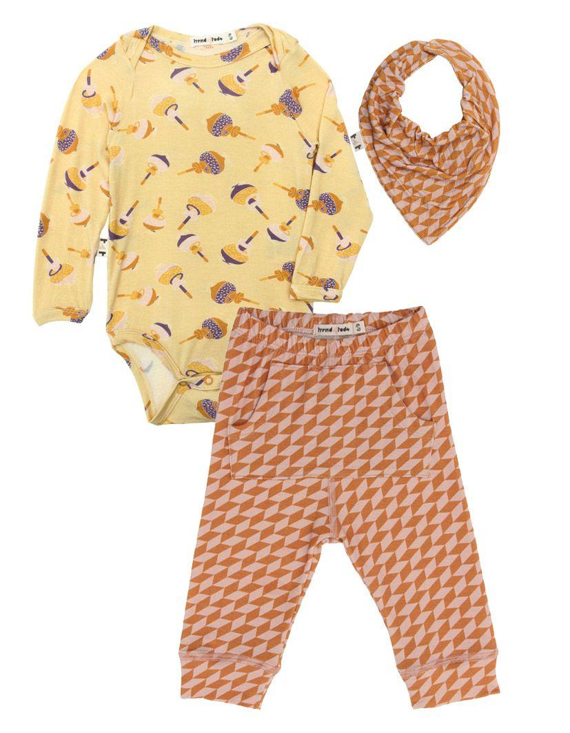 Body Manga Longa Bebê Pião micromodal