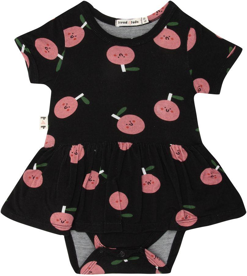 Maça body vestido bebê maça micromodal