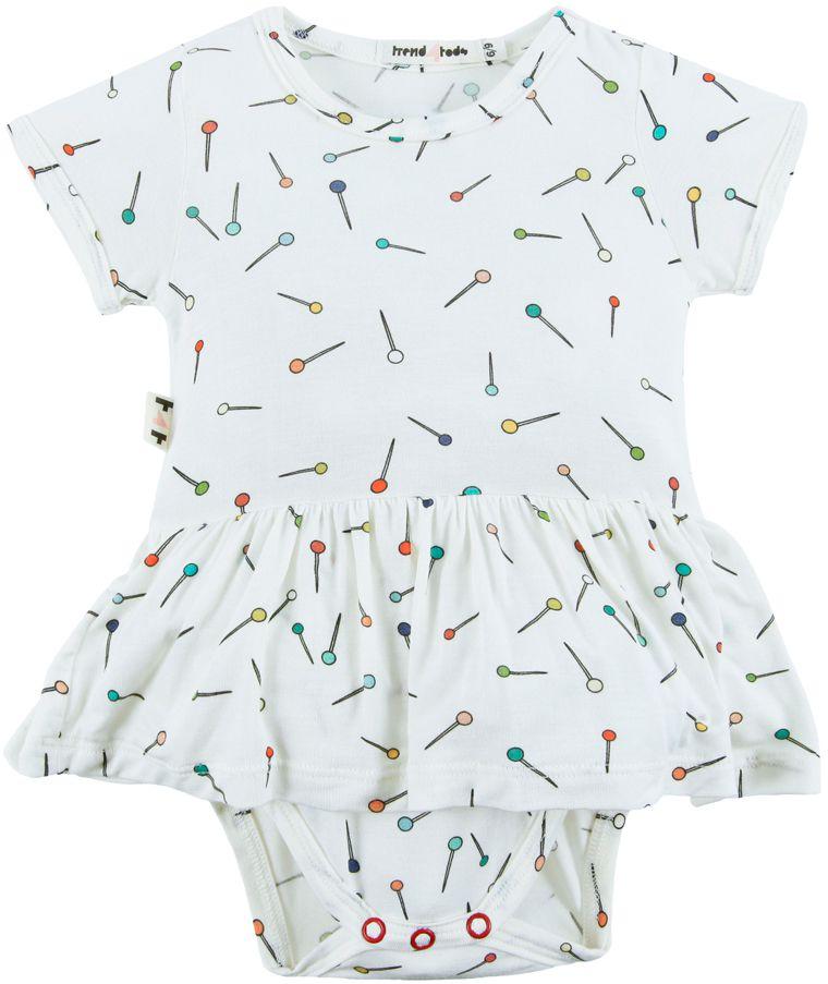 Body vestido bebê micromodal Alfinete