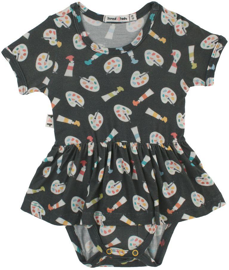 Body vestido bebê micromodal Aquarela