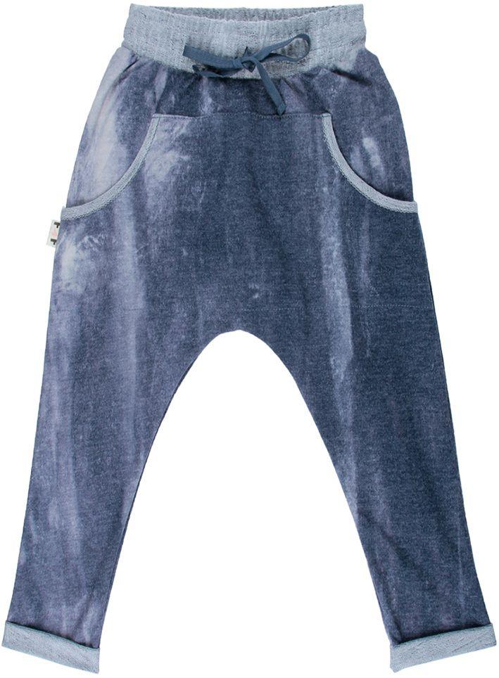 Azul denim estonada calça infantil saruel