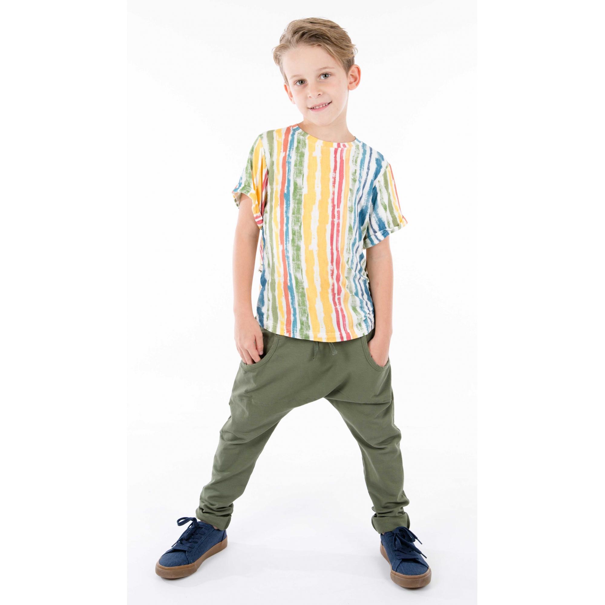 Calça infantil saruel bolso verde