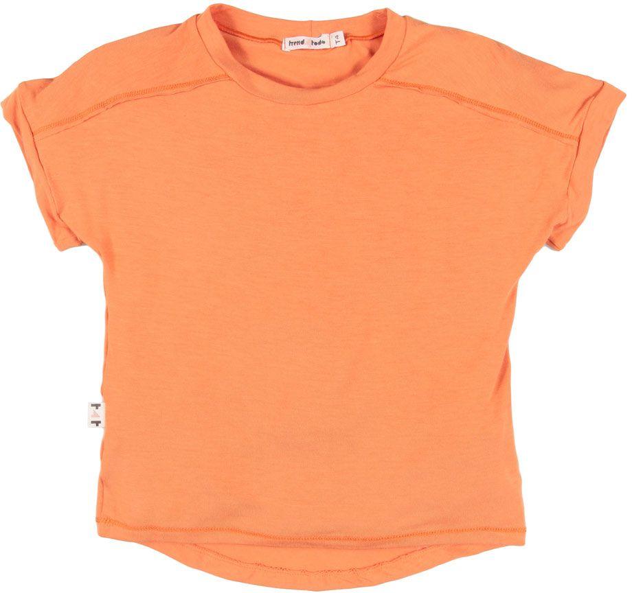 Camiseta infantil bambu laranja