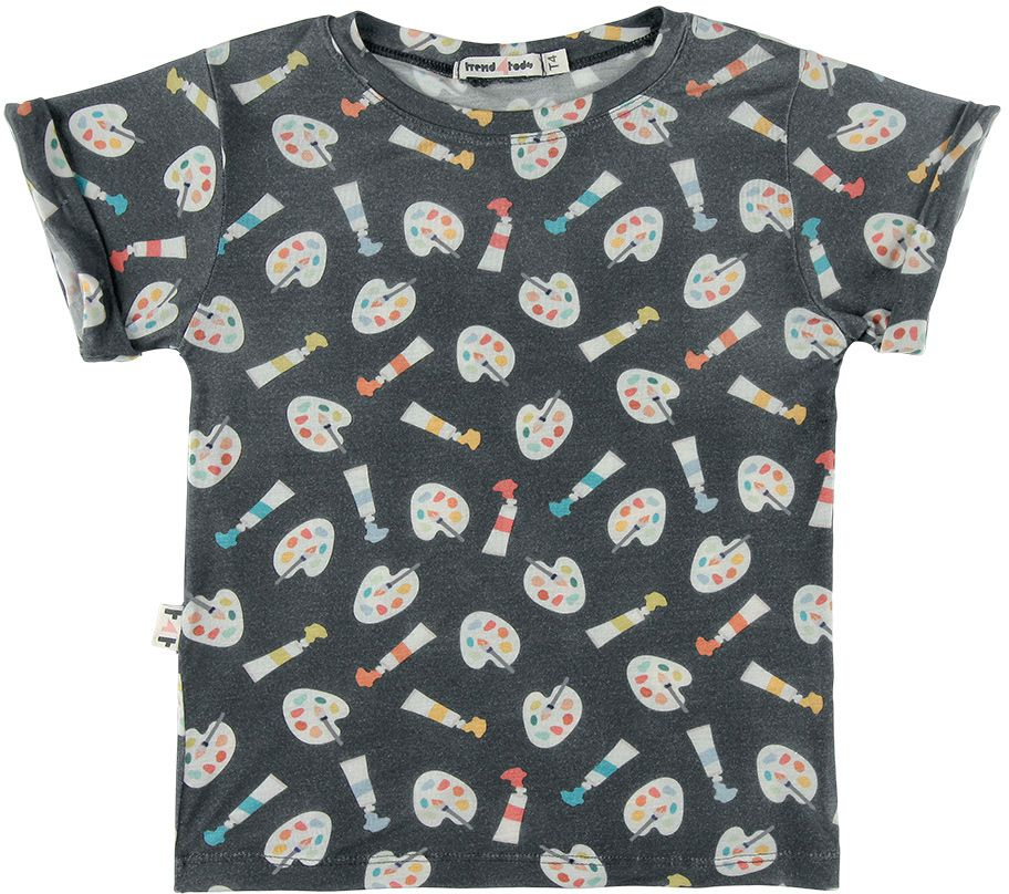 camiseta  infantil micromodal aquarela
