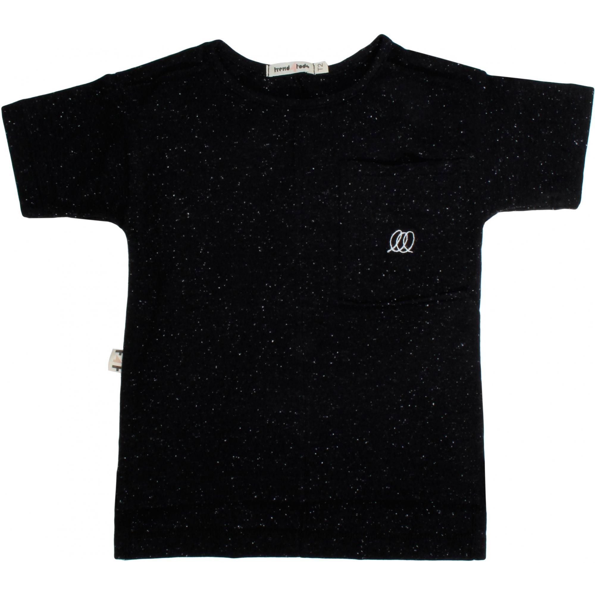 Formas camiseta infantil recortes preta
