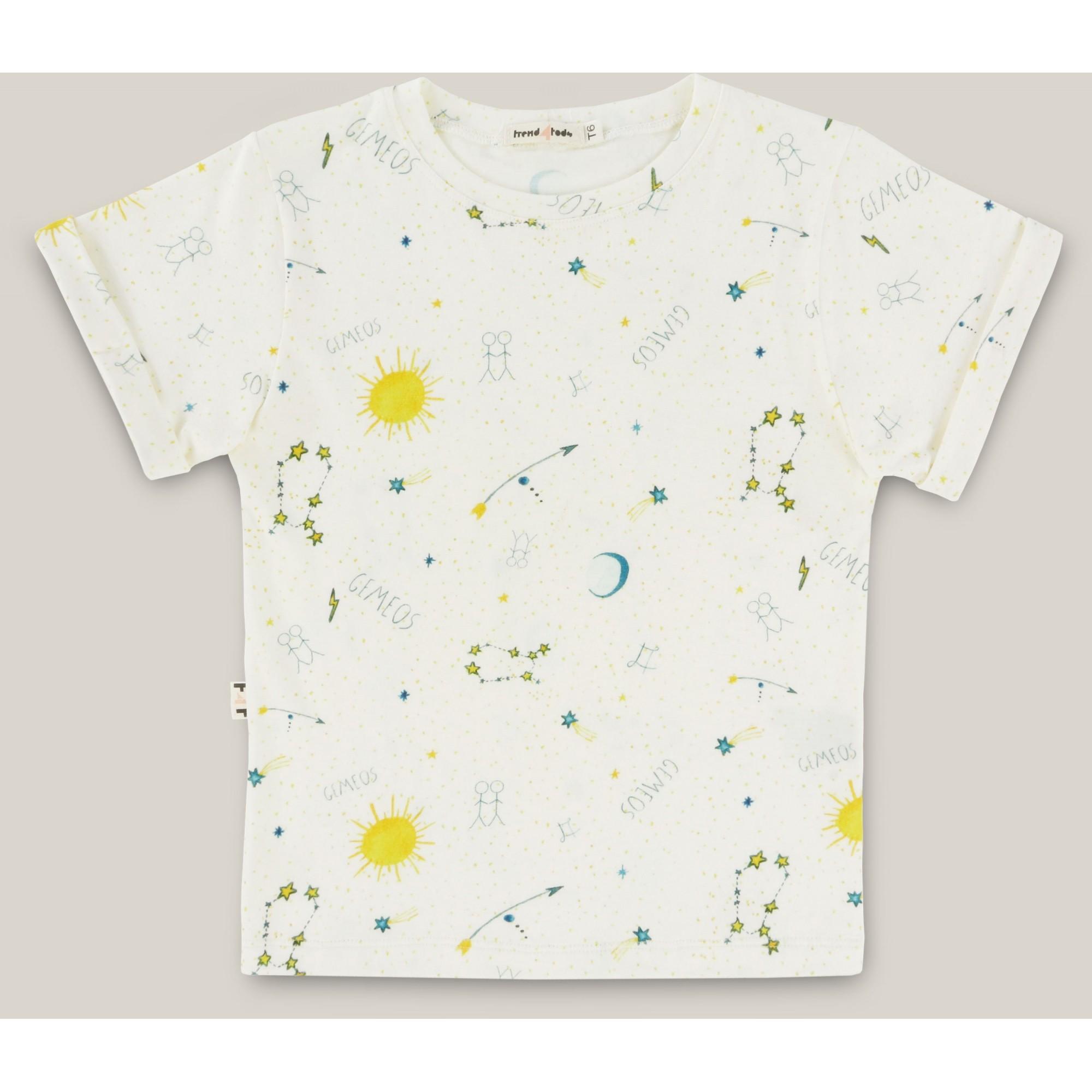 Camiseta infantil signo Gêmeos