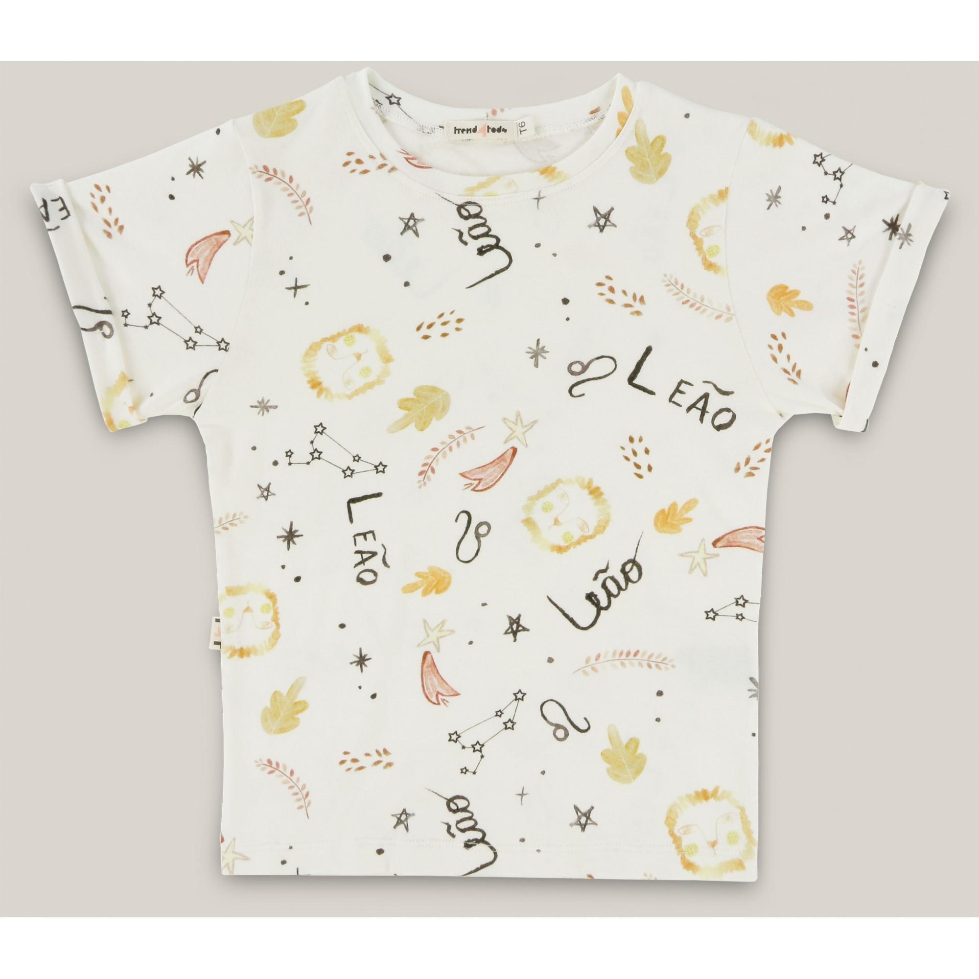 Camiseta infantil signo Leão