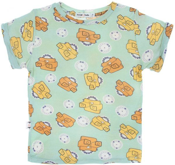 verde view master Camiseta infantil micromodal