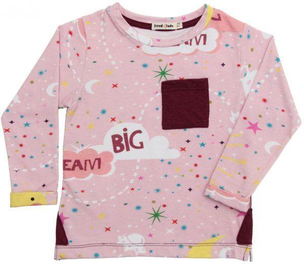 Camiseta Manga Longa Rosa Céu