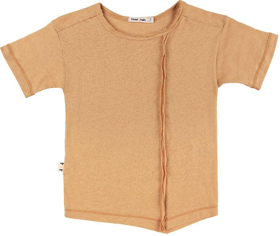 Camiseta recortes pontas Mostarda